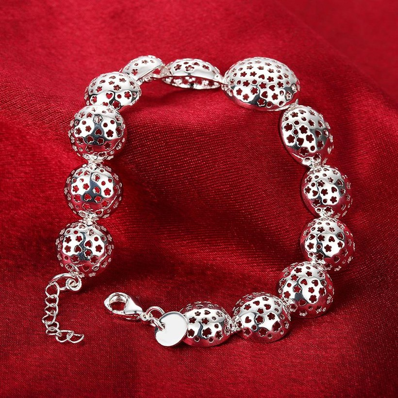 Wholesale Trendy Silver Heart Bracelet TGSPB070 4