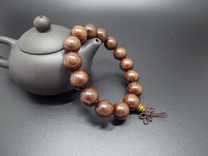 Wholesale Buddha Jewelry Natural authentic gold sandalwood beads bracelet for men and women Christmas Gift VGB039 3