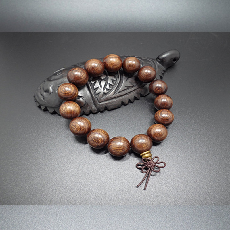 Wholesale Buddha Jewelry Natural authentic gold sandalwood beads bracelet for men and women Christmas Gift VGB039 4