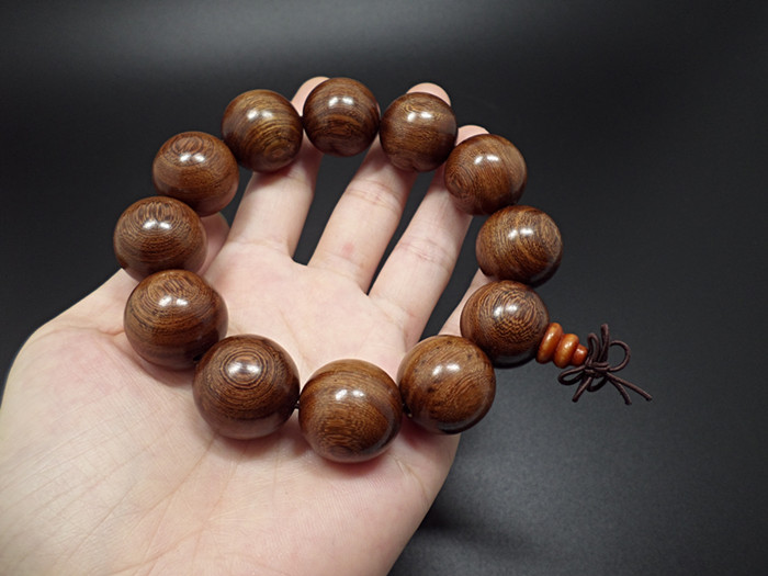 Wholesale Buddha Jewelry Natural authentic gold sandalwood beads bracelet for men and women Christmas Gift VGB039 6
