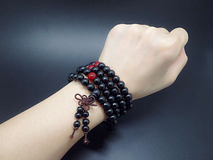 Wholesale Fashion Natural Sandalwood beads Buddhist prayer wood bracelet japa malas necklace Tibetan meditation Bracelets VGB040 4