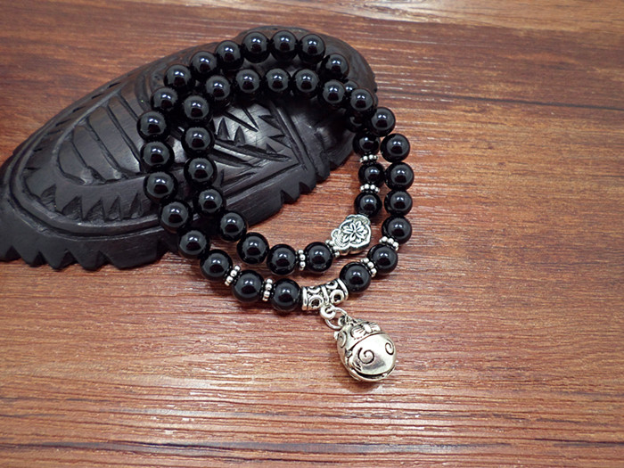 Wholesale Obsidian Bracelet Square crystal Beaded for men and women Yoga Hand Jewelry Accessories Wristband VGB042 8