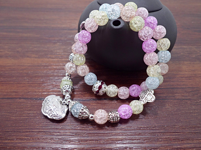 Wholesale Popular Chinese national Style String Multi-element Crystal Beaded bracelet hand accessories for women charm bracelet VGB044 13