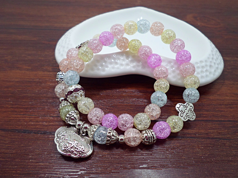 Wholesale Popular Chinese national Style String Multi-element Crystal Beaded bracelet hand accessories for women charm bracelet VGB044 14