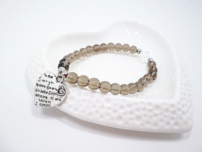 Wholesale Natural Amethysts and brown quartz Bracelet beads Necklace Yoga Mala Stone Bracelet for Women gourd Energy Jewelry VGB045 3