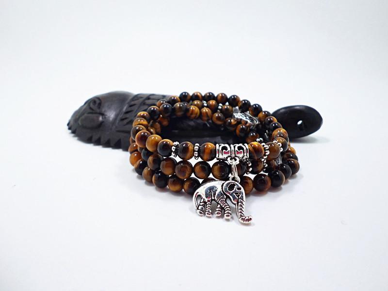 Wholesale Natural Stone Beads Buddha  elephant Bracelet Brown Tiger Eyes Yoga Meditation Braclet For Men Women Hand Jewelry Homme Unisex VGB095 0
