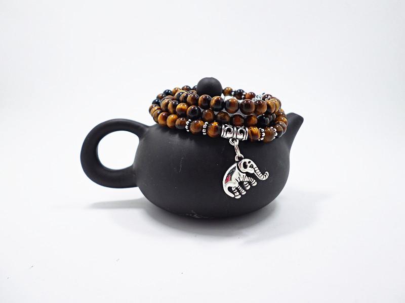 Wholesale Natural Stone Beads Buddha  elephant Bracelet Brown Tiger Eyes Yoga Meditation Braclet For Men Women Hand Jewelry Homme Unisex VGB095 4