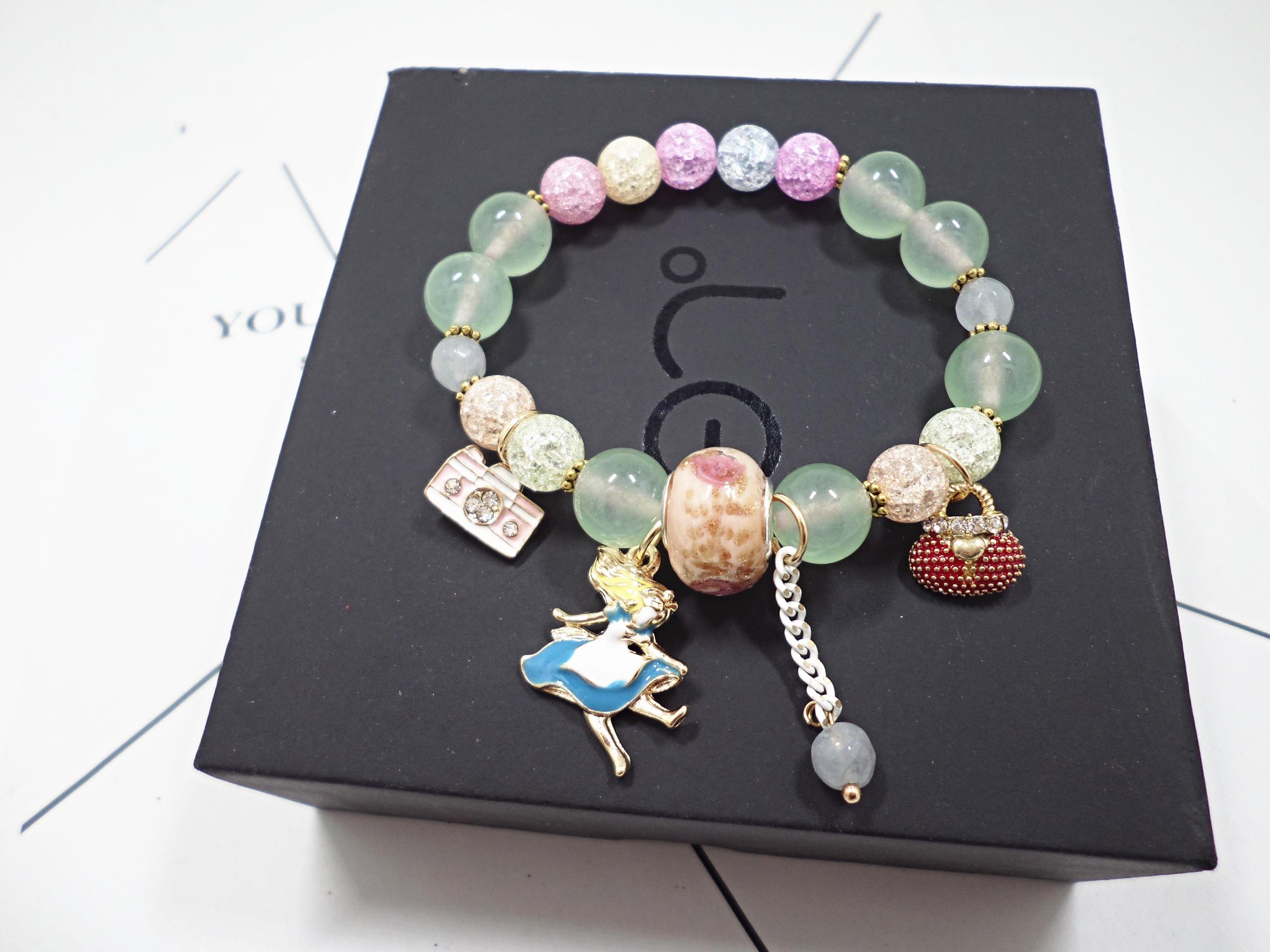 Wholesale Bohemia Girl camera crystal Bead Bracelets for Women creative jewelry wholesale Natural Stone Charms Wristband Gift  VGB097 1