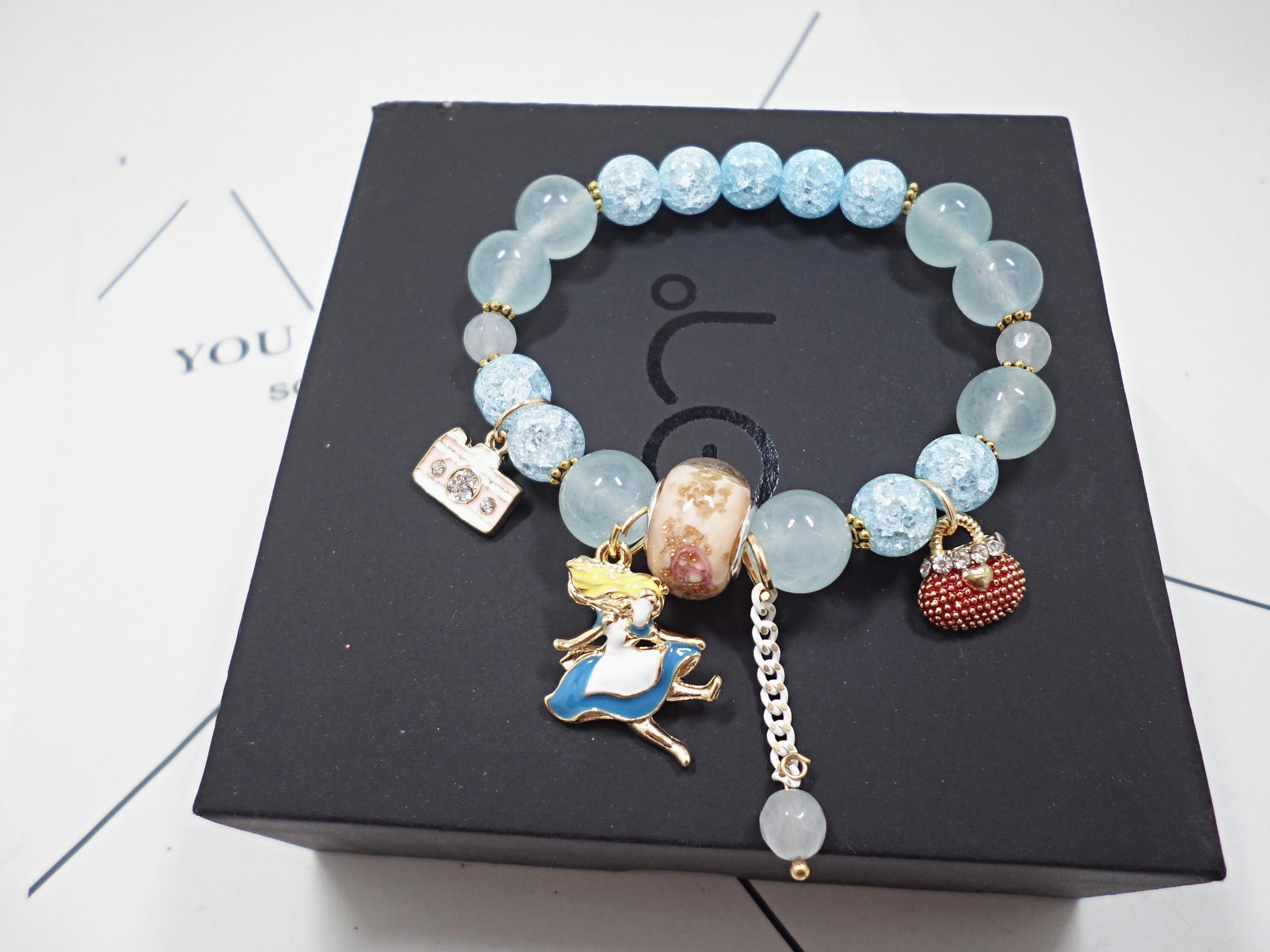 Wholesale Bohemia Girl camera crystal Bead Bracelets for Women creative jewelry wholesale Natural Stone Charms Wristband Gift  VGB097 3