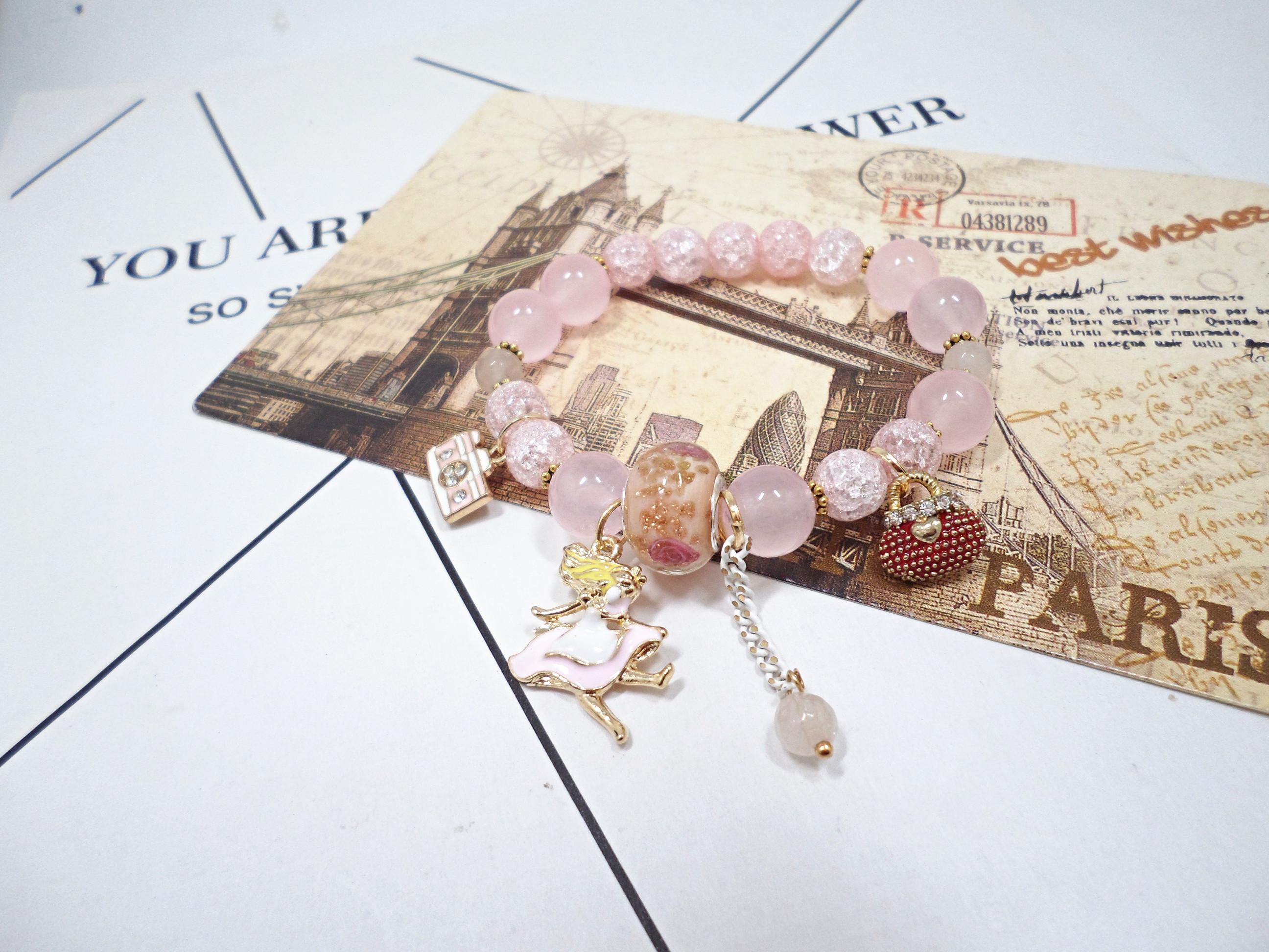 Wholesale Bohemia Girl camera crystal Bead Bracelets for Women creative jewelry wholesale Natural Stone Charms Wristband Gift  VGB097 6