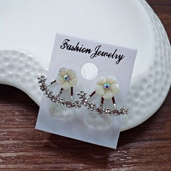 Wholesale Fashion Simulated Pearl Earrings Cute Cherry Blossoms Flower Stud Earrings for Women Blossoms Earrings Jewelry VGE039 0