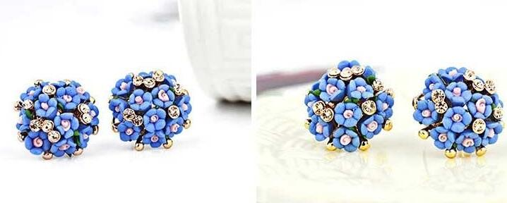 Wholesale New Fashion  jewelry Flower Earring For Women Vintage Jewelry VGE041 0