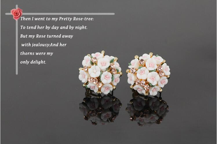 Wholesale New Fashion  jewelry Flower Earring For Women Vintage Jewelry VGE041 1