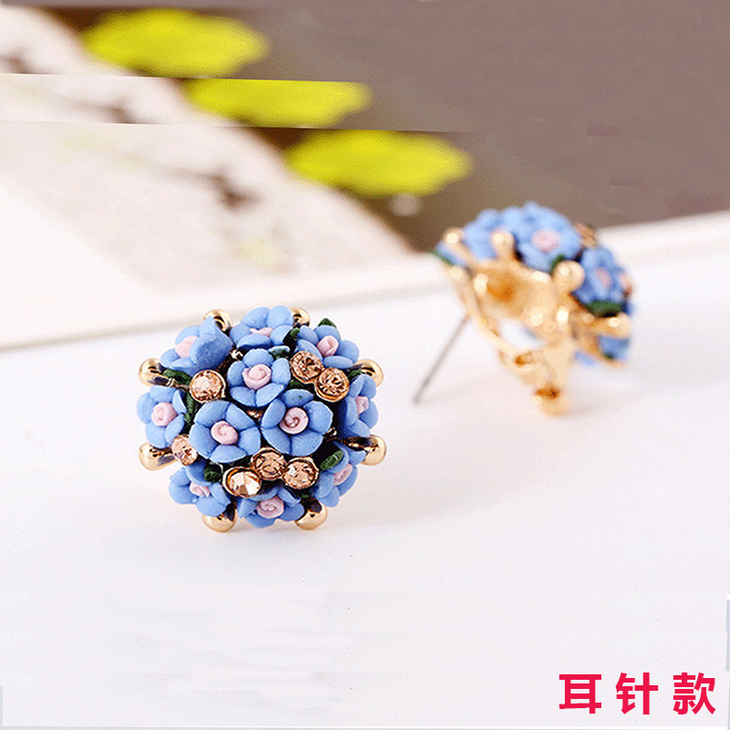 Wholesale New Fashion  jewelry Flower Earring For Women Vintage Jewelry VGE041 3
