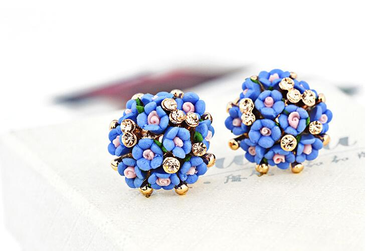 Wholesale New Fashion  jewelry Flower Earring For Women Vintage Jewelry VGE041 4
