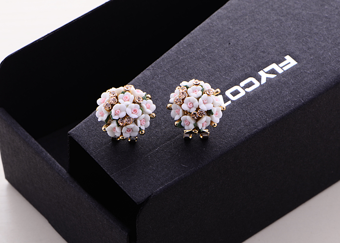 Wholesale New Fashion  jewelry Flower Earring For Women Vintage Jewelry VGE041 5