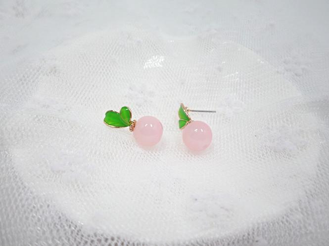 Wholesale Korean Style Leaves Earrings For Women Fashion Stylish Sweet Cute Stud Earrings Jewelry VGE045 2