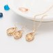 Wholesale Trendy Antique Gold Water Drop Beige Glass Jewelry Set TGCJS030 5
