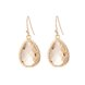 Wholesale Trendy Antique Gold Water Drop Beige Glass Jewelry Set TGCJS030 9
