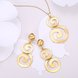 Wholesale Classic Gold Round Jewelry Set TGGPJS138 0