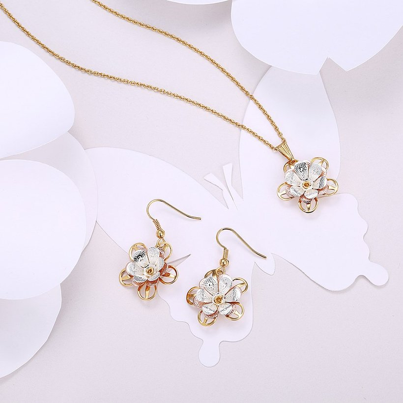 Wholesale Classic Gold Plant Jewelry Set TGGPJS196 0