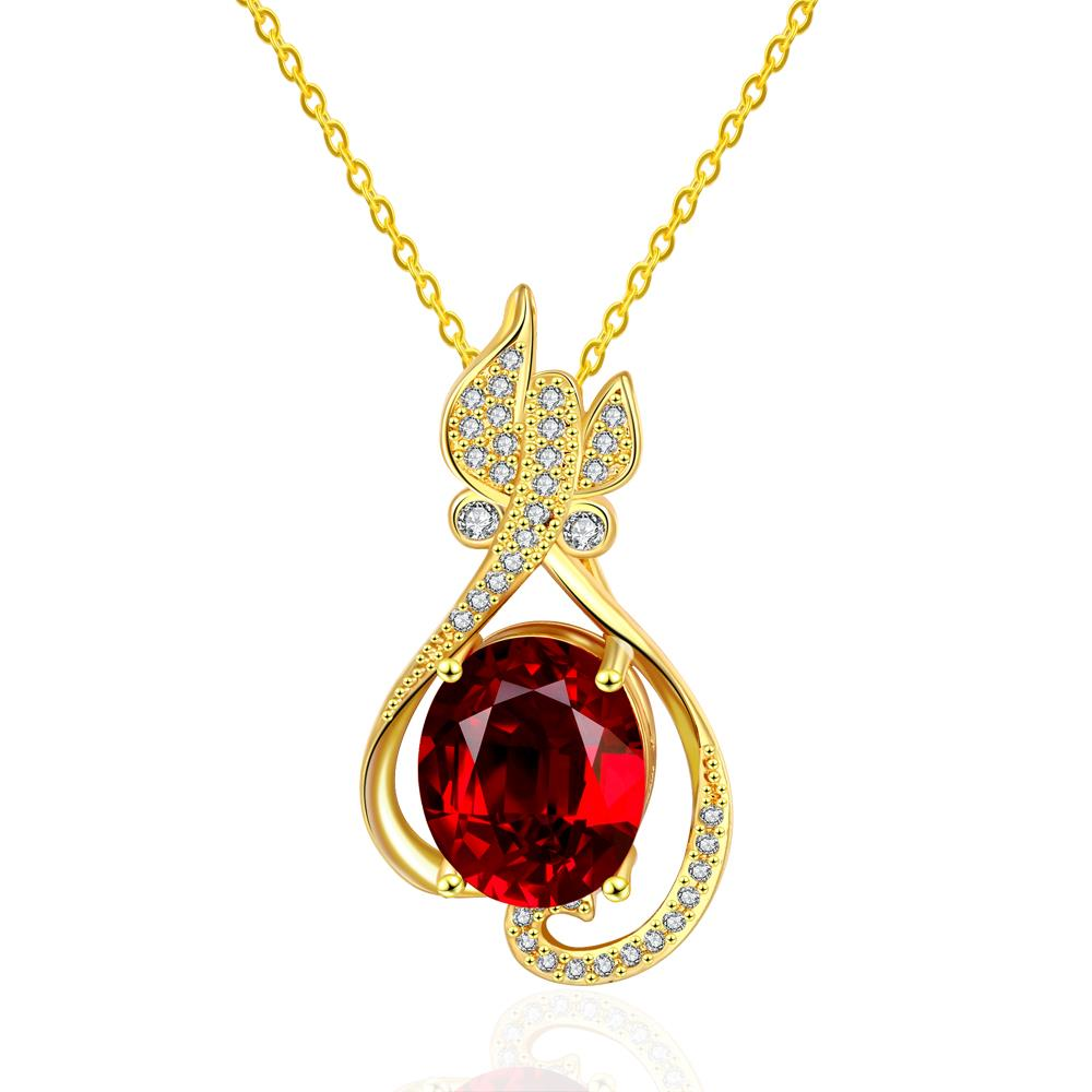 Wholesale Trendy 24K Gold Plant CZ Jewelry Set TGGPJS304 1