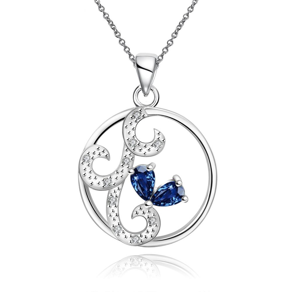 Wholesale Classic Silver Round CZ Jewelry Set TGSPJS680 1