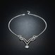 Wholesale Romantic Silver Plant White Crystal Jewelry Set TGSPJS813 1