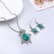 Wholesale Antique Silver Tortoise Glass Jewelry Set TGSPJS144 14