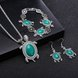 Wholesale Antique Silver Tortoise Glass Jewelry Set TGSPJS144 15