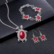 Wholesale Antique Silver Tortoise Glass Jewelry Set TGSPJS144 9