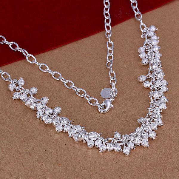 Wholesale Trendy Silver Ball Jewelry Set TGSPJS482 0