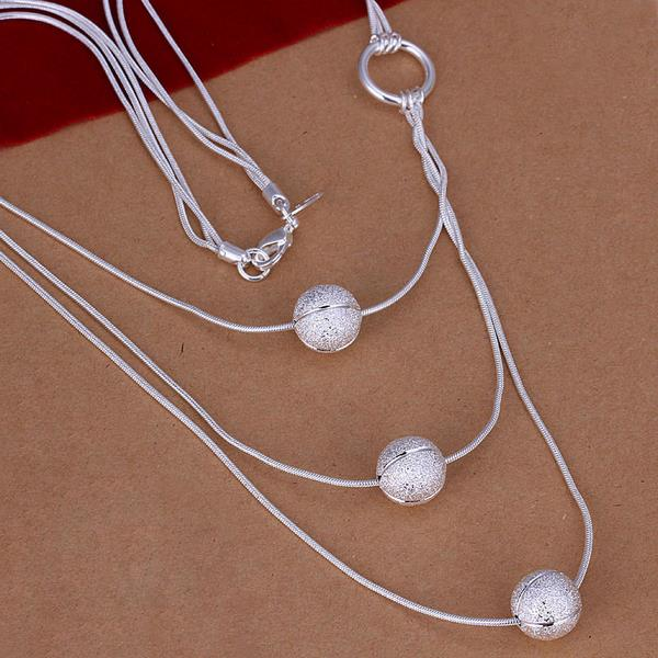 Wholesale Trendy Silver Ball Jewelry Set TGSPJS526 0