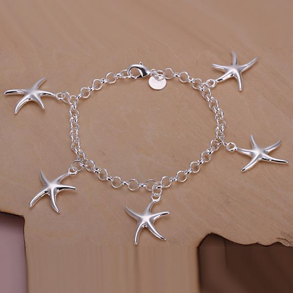 Wholesale Trendy Silver Star Jewelry Set TGSPJS531 1