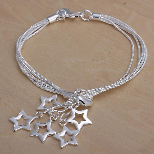 Wholesale Romantic Silver Star Jewelry Set TGSPJS556 1