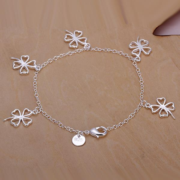 Wholesale Romantic Silver Plant Jewelry Set TGSPJS585 1