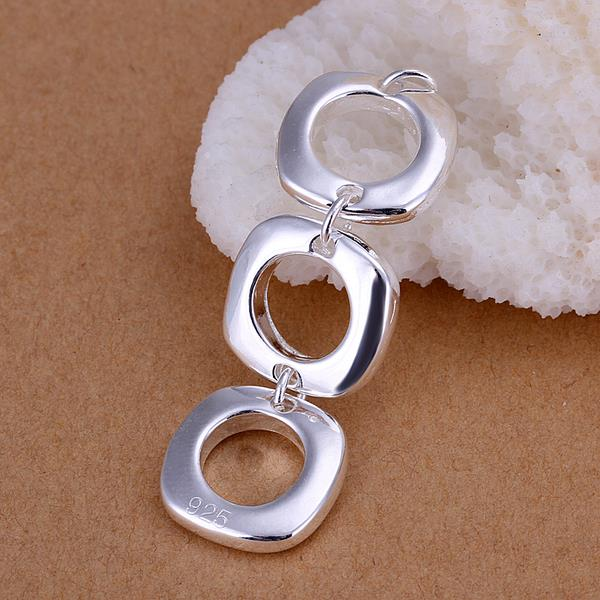 Wholesale Trendy Silver Round Jewelry Set TGSPJS613 3