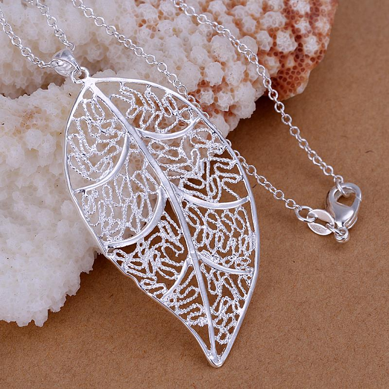 Wholesale Classic Silver Plant Jewelry Set TGSPJS647 0