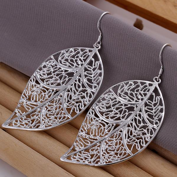 Wholesale Classic Silver Plant Jewelry Set TGSPJS647 1