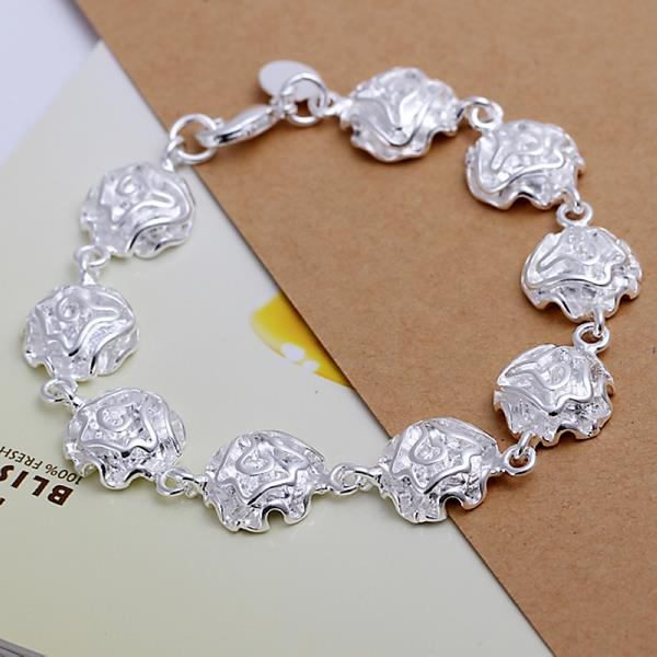 Wholesale Romantic Silver Plant Jewelry Set TGSPJS023 4