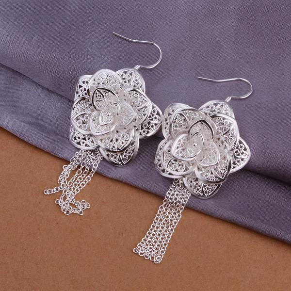 Wholesale Classic Silver Plant Jewelry Set TGSPJS259 1