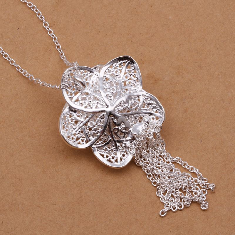 Wholesale Classic Silver Plant Jewelry Set TGSPJS259 2