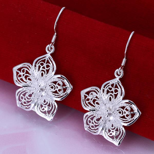 Wholesale Romantic Silver Plant Jewelry Set TGSPJS267 0