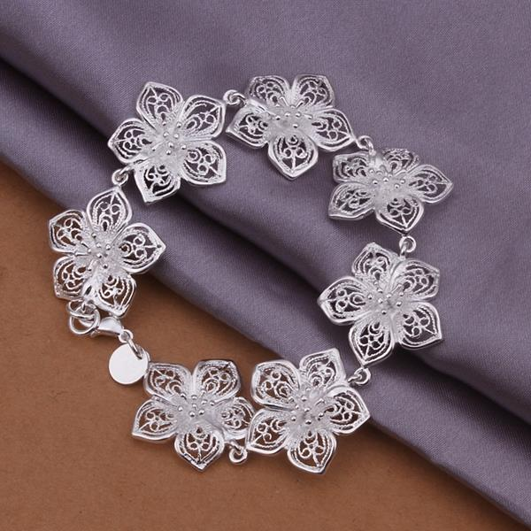 Wholesale Romantic Silver Plant Jewelry Set TGSPJS267 1