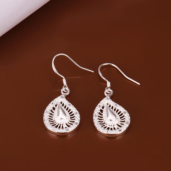 Wholesale Romantic Silver Water Drop Crystal Jewelry Set TGSPJS289 0
