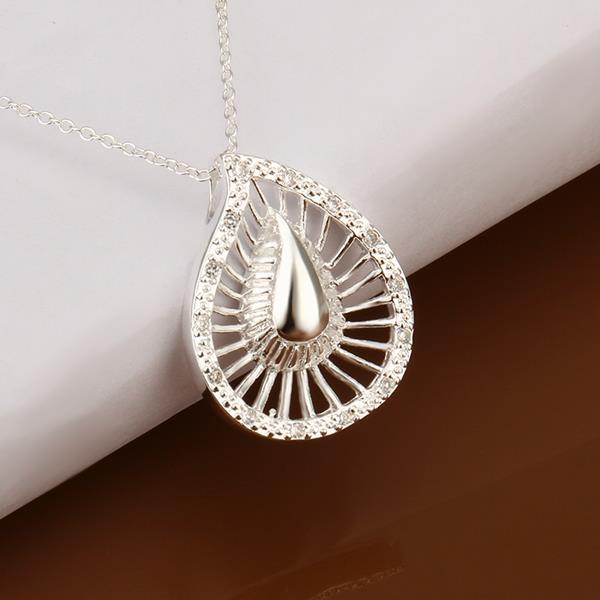 Wholesale Romantic Silver Water Drop Crystal Jewelry Set TGSPJS289 1