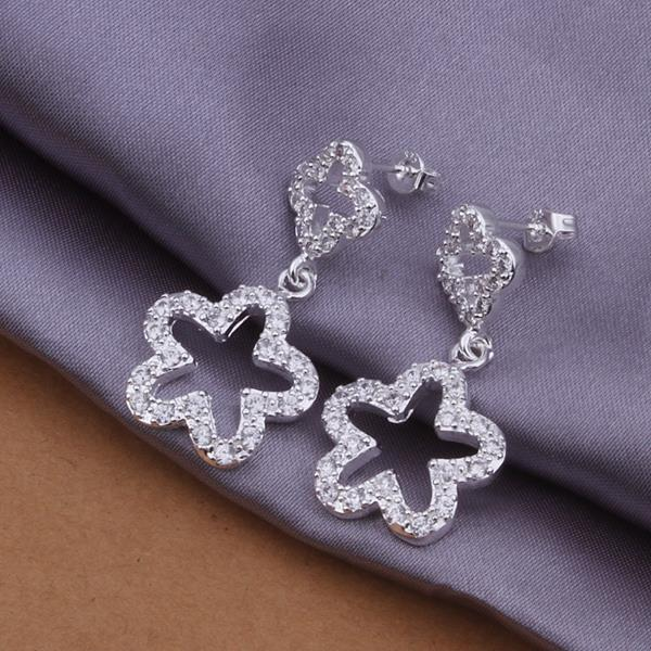 Wholesale Trendy Silver Plant Crystal Jewelry Set TGSPJS420 0