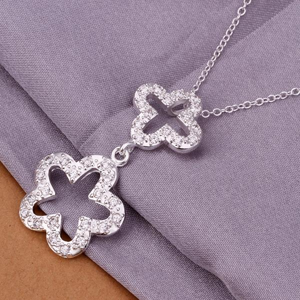 Wholesale Trendy Silver Plant Crystal Jewelry Set TGSPJS420 1