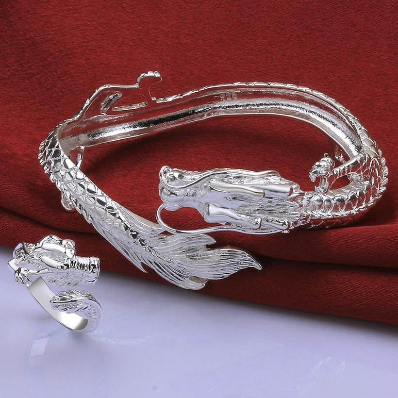 Wholesale Classic Silver Animal Jewelry Set TGSPJS293 0