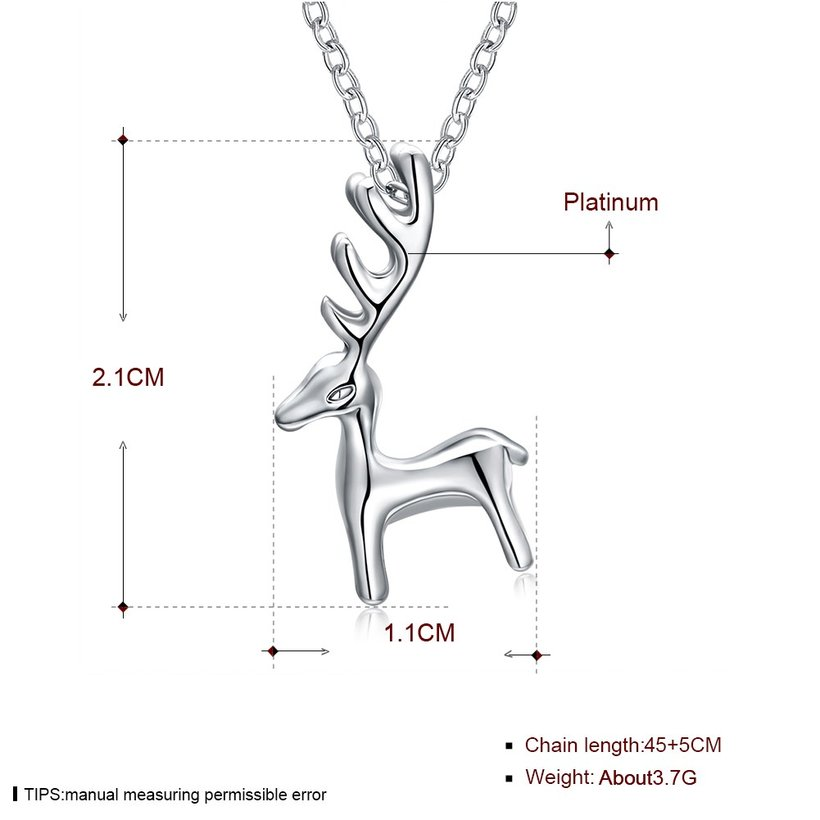 Wholesale Gift Simple Antler Christmas deer animal Necklace Reindeer Horn Stag Cute Bambi Woodland Fawn Necklace Lucky festival jewelry TGGPN480 4